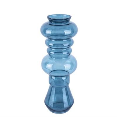 Vase 'Morgana' groß, dunkelblau, H 50 cm, D 18cm