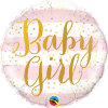 Baby Girl, Folienballon, rund, 45cm
