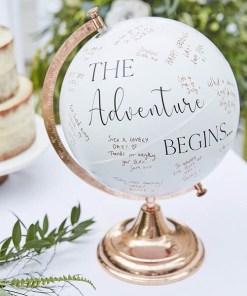 Globus Gästebuch, Botanical Wedding, roségoldweiß, zum Beschriften, 28 x H 39,5, Dekobeispiel 1