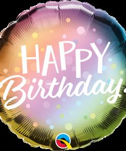Happy Birthday Colourfun, Folienballon, rund, 45cm