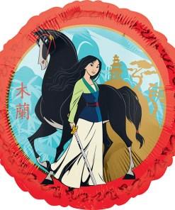 Mulan, Folienballon, rund, 43cm
