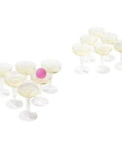 Prosecco Pong, 12 Plastikglaeser, 3 Baelle, Beispielbild