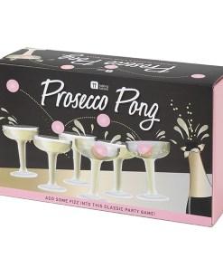 Prosecco Pong, 12 Plastikglaeser, 3 Baelle, Verpackung 1