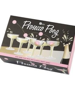 Prosecco Pong, 12 Plastikglaeser, 3 Baelle, Verpackung 2