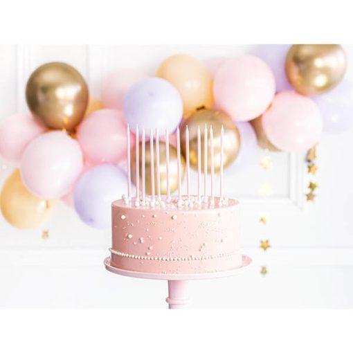 Kerzen, 12er Pack, light pink, 14 cm, Dekobeispiel