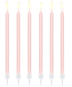 Kerzen, 12er Pack, light pink, 14 cm