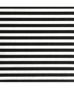 Servietten, schwarz, streifen, 20 Stk., 33 x 33cm