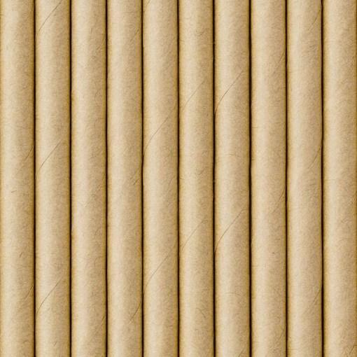 Trinkhalm, Kraftpapier naturbraun, 10er Pack, L 19,5cm