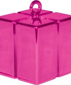 BALLONI, Ballongewicht Geschenkbox, magenta, 110g, 6,2cm