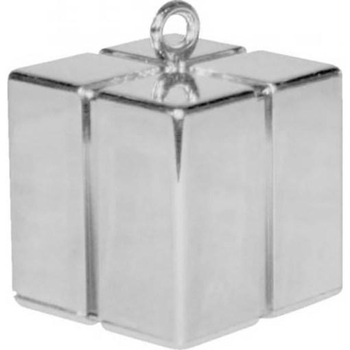 BALLONI, Ballongewicht Geschenkbox, silber, 110g, 6,2cm, 2