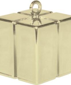 BALLONI, Ballongewicht Geschenkbox, soft gold, 110g, 6,2cm