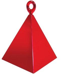 BALLONI, Ballongewicht Pyramide, rot, 150g, 6,2cm
