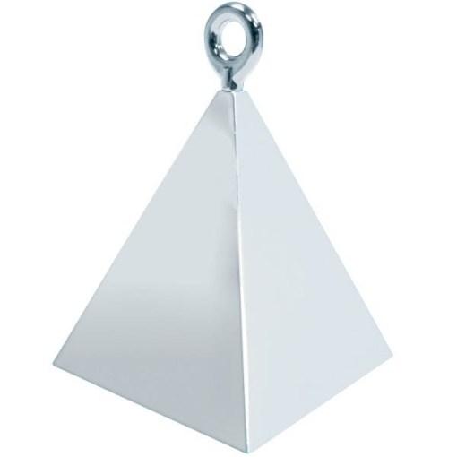 BALLONI, Ballongewicht Pyramide, silber, 150g, 6,2cm, 2
