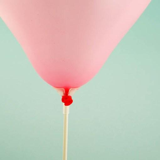Ballonstange, Kunststoff, 40cm mit Ballon, Beispielbild Detail