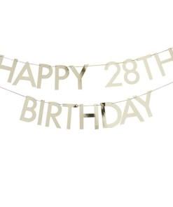 Buchstaben-Girlande ''Happy Birthday'', gold, zum Selbstgestalten, 2x Ziffern 0-9, 11 x L 150 cm