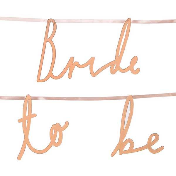 Girlande ''Bride to be'' 1,2m, Bild 2