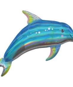 Delphin irisierend, Folienballon B73cm