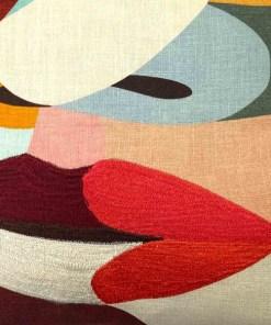 Kissen ''Milou'', Bezug inklusive Innenkissen, Oekodruck, 100% Baumwolle, 50x50cm, Detail