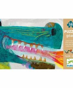 Silhouetten-Puzzle ''Leon der Drache'', 58 Teile, B 1,38 m, Packung Front