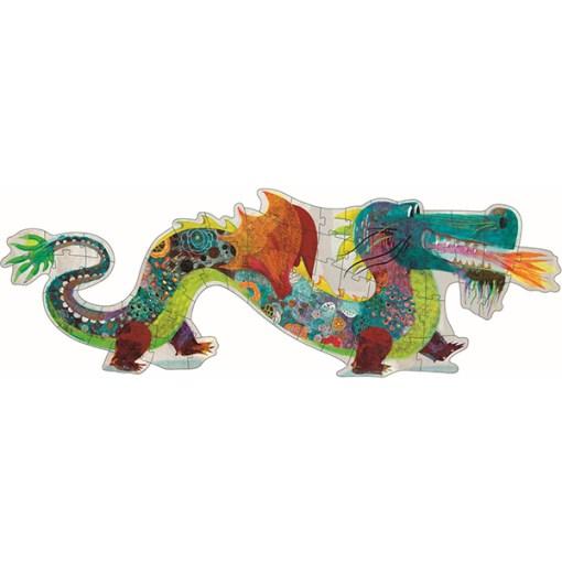 Silhouetten-Puzzle ''Leon der Drache'', 58 Teile, B 1,38 m, fertig gepuzzlet
