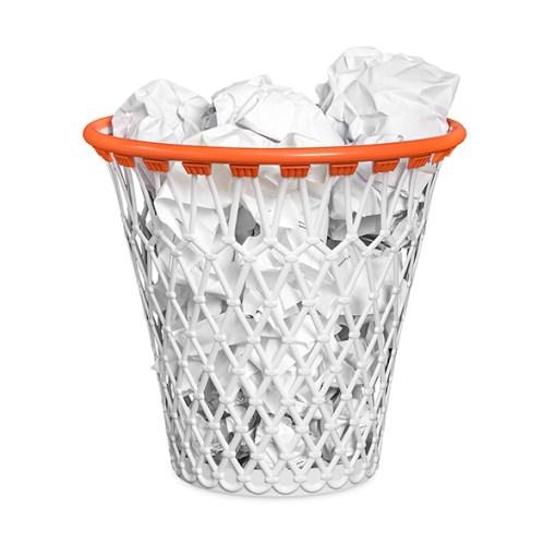 Papierkorb Basketballkorb, Polypropylen, 30,7x32x32 cm, befuellt, Beispielbild