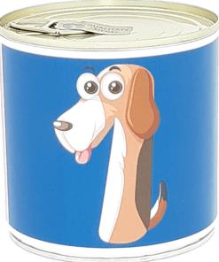 1 Cancake ''Numbers Kids Animals'' Edition Zahl 1 Hund dunkelblau Brownie, BALLONI
