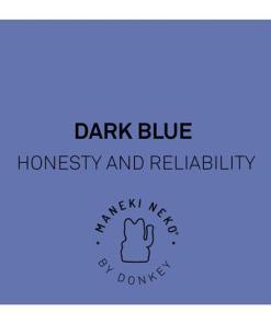 Lucky Cat mini, Kunststoff dunkelblau , 1x AA-Batterie (nicht enthalten), 6,7 x 5,2 x 9,8 cm, Meaning Dark Blue