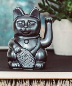 Lucky Cat, Kunststoff galaxy (pearl-grau), 1x AA-Batterie (nicht enthalten), 15 x 10,5 cm, Beispielbild