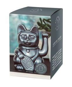 Lucky Cat, Kunststoff galaxy (pearl-grau), 1x AA-Batterie (nicht enthalten), 15 x 10,5 cm, Verpackung