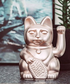 Lucky Cat, Kunststoff moonlight (rosegold), 1x AA-Batterie (nicht enthalten), 15 x 10,5 cm, Dekobeispiel