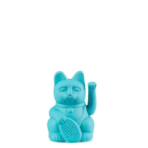 Lucky Cat mini, Kunststoff tuerkis, 1x AA-Batterie (nicht enthalten), 6,7 x 5,2 x 9,8 cm