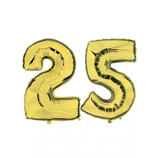 25 jaar folie ballonnen goud
