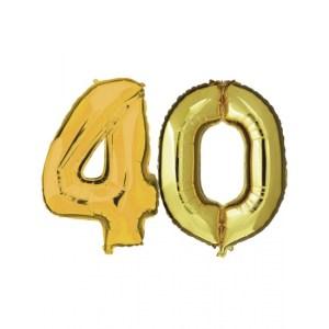 40 jaar jublileum ballonnen goud