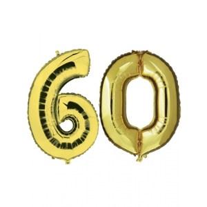 60 jaar jublileum ballonnen goud