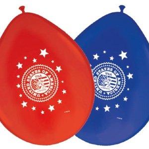 Blauw / rode ballonnen USA