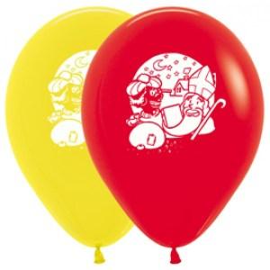 Latex Ballonnen Sinterklaas Witte Print
