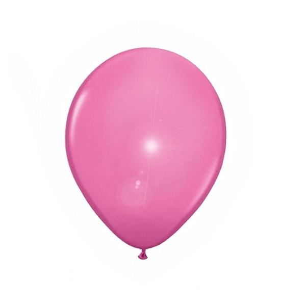 Lichtroze ballonnen met LED lichtjes