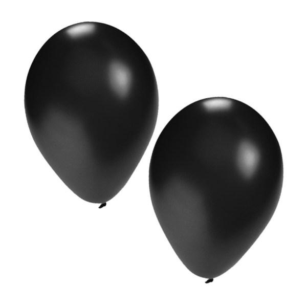 Party ballonnen zwart 25x stuks