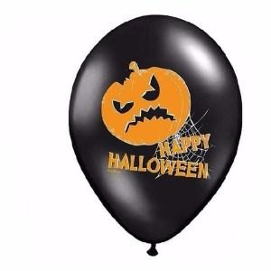 Pompoen Halloween ballonnen 6 stuks
