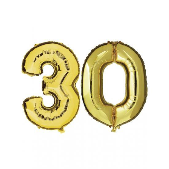 Verjaardag ballonnen 30 jaar goud