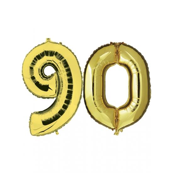 90 jaar jublileum ballonnen goud