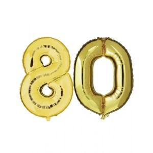 80 jaar jublileum ballonnen goud