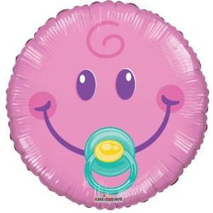Heliumballon Baby girl smiley