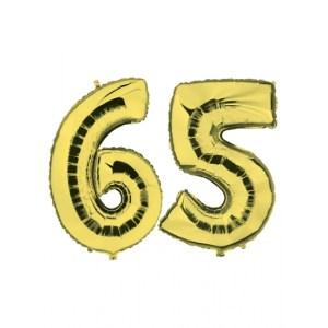 65 jaar jublileum ballonnen goud