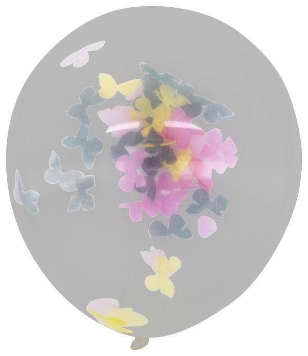 HEMA Confetti Ballonnen 30cm Vlinder - 6 Stuks