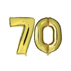 70 jaar jublileum ballonnen goud