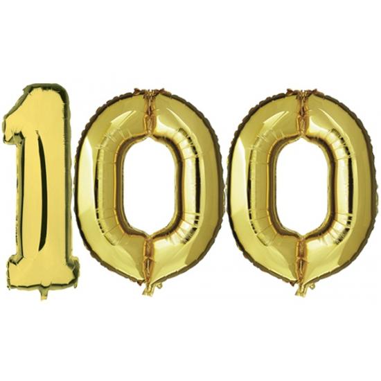 100 jaar jublileum ballonnen goud
