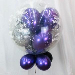 10 Ballons im Ballon luftbefüllt 65 cm