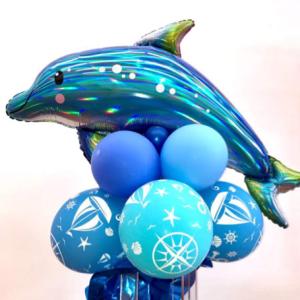 Tischdeko Delfin 80 cm