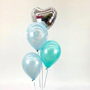 Bouquet Herz mit 3 Latexballons